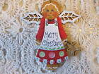 HP GINGERBREAD MERRY CHRISTMAS ORNAMENT HAND PAINTED