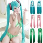 VOCALOID Hatsune Miku Anime Cosplay Full Wig Double Ponytails Long Straight Hair