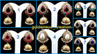 White Pearl Anitique Golden Polish Bollywood Filigree Punjabi Jhumka Earring-5