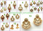 Choose Polki Pearl Kundan Rhinestone GoldTraditional Chandbali Earring-Diwali-12