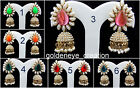 Choose Off-White Pearl Golden Tone Bollywood Ashiqui2 Jhumka Punjabi Earring-9