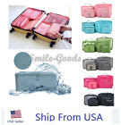 6 Pcs Waterproof Clothes Storage Bags Packing Cube Travel Luggage Organizer