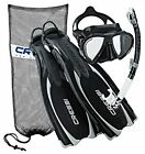 Cressi Reaction Open Heel Fins with Bungee Straps  Scuba Gear Package