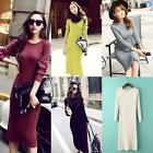 Fashion Women's Long Sleeve Bodycon Evening Party Cocktail Club Knit Mini Dress
