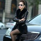 Women Winter Warm Fur Collar Coat Leather Thick Jacket Overcoat Parka Hot