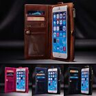 Leather Removable Wallet Magnetic Flip Card Case Cover for iPhone 7 Plus 6 6s