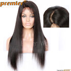 "4.5"" Super Deep Part Remy Human Hair Lace Front Wigs Natural Color Light Yaki"