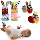 Cute Animal Infant Kids Baby Hand Wrist Bells Foot Sock Rattles Soft Toys
