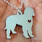 Golden Doodle Necklace - Sterling Silver Jewelry - Gold - Rose Gold - Engrave