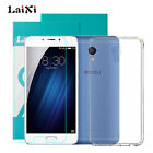 Laixi Tempered Glass+Ultra Thin Clear TPU Soft Protective Case For Meizu Phones