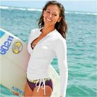 Sexy Women One Piece Long Sleeve Anti-UV Wetsuit TShirts Diving Surfing Snorkeli