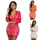 Women's Sexy Lace Mini Short Bodycon Dress Clubwear Evening Party Cocktail Skirt