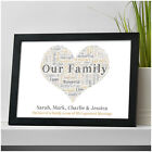 Family Gift Personalised Family Word Art Print Gift Family Christmas Present
