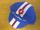 CASTELLI RETRO STYLE CYCLING TEAM BIKE CAP - MADE IN ITALY - Blue/White