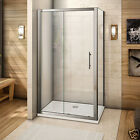 New Sliding Shower Enclosure Door Cubicle Side Panel Stone Tray Free Waste