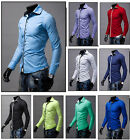 Men Business Office Work Luxury Casual Stylish Tshirt Long Sleeve Shirt Blouse