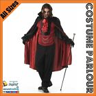 Mens Vampire Count Dracula Twilight Halloween Fancy Dress Costume All Sizes