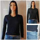 Authentic ABERCROMBIE GIRLS Hoodie Tee size S M NWT blue NAVY gray