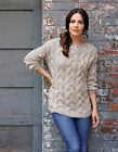 Women's Alpaca Pujpu Cable Tunic Pullover Sweater