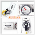 Baseplate Pocket Compass Military Orienteering Hiking Camping Maps Lensatic Army