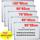 One Sided Magnetic Whiteboard FREE DUSTER AND MAGNETS Notice Memo Office Board