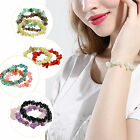 Colorful Women Crystal  Stone Beads Chip Bracelet Stretch Bangle Christmas Gift