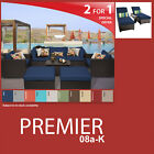 Premier 11 Piece Outdoor Wicker Patio Package PREMIER-08a-K - Navy