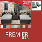 Premier 8 Piece Outdoor Wicker Patio Package PREMIER-05a-K - Grey
