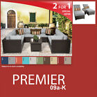 Premier 12 Piece Outdoor Wicker Patio Package PREMIER-09a-K - Grey