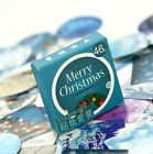 1 box 46 PCS Merry Christmas Labels for diary Cards Greeting stickers HOT