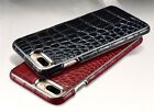 XOOMZ Crocodile Real Leather Luxury Chrome Bumper Back Cover for iPhone 7 / Plus