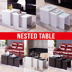 BN Design High Gloss Nest of 3 Side Nested Coffee Table Living Room Furniture