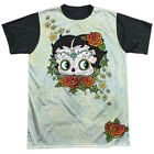 Betty Boop 1930s Animated Character Icon Day of the Dead Adult Black Back Tee $19.95 USD