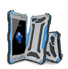 R-JUST Marke Shockproof Metal Bumper Gorilla Glass Outdoor Case f. iPhone