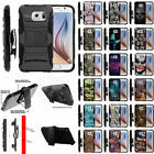 For Samsung Galaxy S6 G920 Clip Holster Protective Case Combo Kickstand
