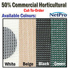 2m 50% Shade Cloth Horticultural Grade 170gsm - Cut To Order - POSTED