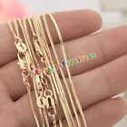 """Hot Wholesale 18k Gold Plated On Snake Chain Necklace Jewellery 16-30"""" Gift"""