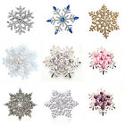 Christmas White Blue Purple Pink Gold Snowflake Brooch Pin Xmas Gift Collection