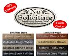 "No Soliciting Sign ""NO SOLICITING / etc.""  Home/Business Door Sign FREE SHIPPING"