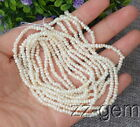 SP0223   2-3MM White Rondelle Freshwater pearl loose Beads 15''