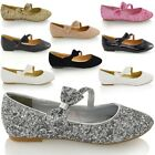 Womens Low Block Heel Bridal Pumps Ladies Bow Strap Ballerina Wedding Shoes 3-8