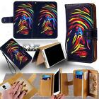 Leather Stand Flip Wallet Cover Mobile Phone Case For LG Various L Models +Strap