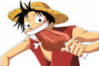 STICKER AUTOCOLLANT/POSTER/LAMINATED/MAGNET/CADRE A4.MANGA ONE PIECE LUFFY STRAW