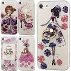 For Apple iPhone 7 Case Fancy Glitter Print Pattern Design Key Ring Stand Cover