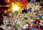 STICKER AUTOCOLLANT/POSTER/LAMINATED/MAGNET/CADRE A4.DRAGON BALL ALL MIX PERSOS.