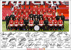 MANCHESTER UNITED SIGNED PHOTO POSTER PRINT SQUAD 2016 2017  MAN UTD TEAM POGBA