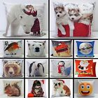 "Christmas Decorative Cushion Cover 17x17""  Pillow Case Stunning Colours Gift New"