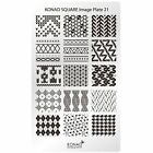 Genuine Konad Stamping Nail Art Square Image Plate 21 22 23Stainless Steel