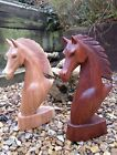 FairTrade Hand Made Carved Wooden Equine Horse Head Bust Sculpture Ornament 30cm
