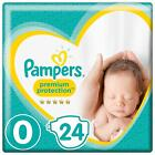 Pampers Premium Protection New Baby Size 0 Micro Carry Pack Nappies 24  48 144